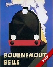 VINTAGE BOURNEMOUTH BELLE ENGLAND VACATION TRAVEL AD POSTER ART CANVAS PRINT