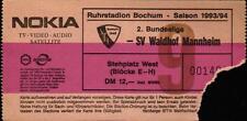 Ticket II. BL 93/94 VfL Bochum - SV Waldhof Mannheim, Stehplatz West