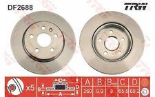 TRW Juego de 2 discos freno 260mm OPEL VECTRA SAAB 900 VAUXHALL CAVALIER DF2688