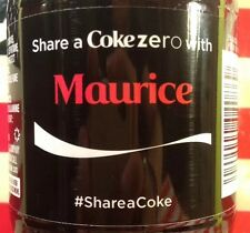 Share A Coke With Maurice Coke Zero Limited Edition Coca Cola Bottle 2014 USA