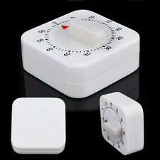For Reminder Alarm Food White Round Mechanical Timer 60 Minutes Kitchen Square