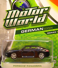 GREENLIGHT COLLECTIBLES 1:64 SCALE DIECAST METAL BLACK PORSCHE PANAMERA