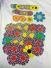 Lot 43 Vintage Window Bumper Stickers Decals Flower Power Hippie Sticker 1960's