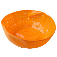 Orange Color Silicone Kitchen Drain Basket,Rice Washing, Microwave Dish Cover