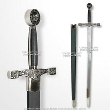 "45"" Excalibur Medieval Crusader Arming Sword with Scabbard Reenactment LARP"