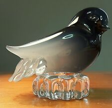 MURANO SMOKEY GLASS BIRD