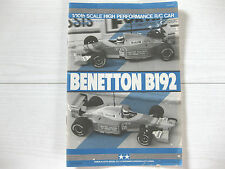 Tamiya Vintage 1/10 F1 Benetton B192 Instruction Manual Used 58118 Parts List