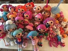 BIG Lalaloopsy LOT 18 FULL silly hair dolls shoes clothes pets