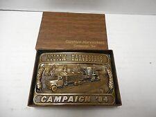 1984 Custom Harvesters Campaign Belt Buckle Ltd Ed.