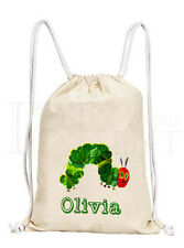 Personalised Very Hungry Caterpillar Drawstring Canvas Gym/ PE Bag