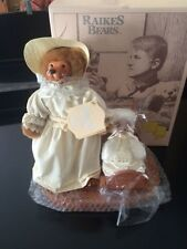 """Vintage Raikes """"Mother's Day 1990"""" Bear Set With Mother Charlotte and Baby Toby"""