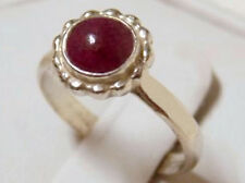 natural 1.20ct red purple ruby 925 sterling silver flower ring size 7 USA