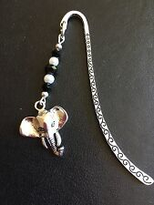 ELEPHANT ANIMAL BOOKMARK TIBETAN SILVER -  IN GIFT BAG