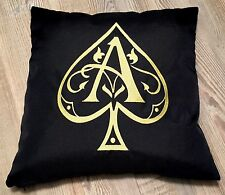 ARMAND DE BRIGNAC  CHAMPAGNE ACE OF SPADES  CUSHION BRAND NEW BLACK  40x40cm