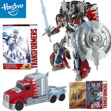 TRANSFORMERS PLATINUM EDITION SILVER KNIGHT OPTIMUS PRIME HASBRO ROBOT TRUCK TOY