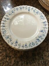 Set Of 8 Royal Albert Memory Lane Forget Me Not Salad Plates Dishes