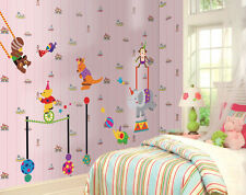 Circus Animals Large Childrens Nursery Wall Sticker Deocration Wall Art
