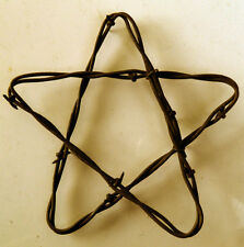 "5"" Rusty Barbed Wire Star Rustic Western Farmhouse Ranch Decor Repurposed Barb!"