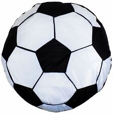"FILLED BLACK WHITE FOOTBALL 16"" - 40CM ROUND CUSHION"