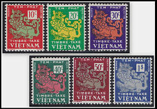 VIETNAM EMPIRE Taxe N°1/6* Dragons,1952 South Vietnam #J1-J6 Postage Dues MH