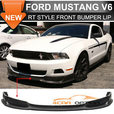 10-12 Ford Mustang V6 RT Style Front Bumper Lip Spoiler PU Unpainted