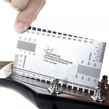 Guitar String Action Gauge Measuring Ruler Bass Luthier Tool