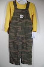 New Carter's Boy's 2 Pc CAMO Overalls & Yellow Pullover Shirt, Sz 24 Months