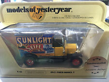 Matchbox Yesteryear Y-12 !912 Ford Model T Sunlight Seife