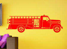 Fire Truck Wall Decal Firefighters Vinyl Sticker Kids Room Home Art Decor 1ft