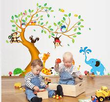 Neu Wandtattoo Wandsticker Tiere Affe Wald Baum Spielzimmer  Kinderzimmer Baby