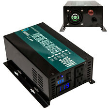 Car Power Inverter 300W Pure Sine Wave Inverter 12V DC to 120V AC Home Solar