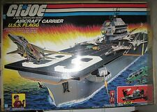 1985 Vintage GI Joe USS Flagg Aircraft Carrier Playset with  Box
