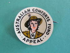 WW2 Australian Comforts Fund Appeal Womans Army Uniform Badge