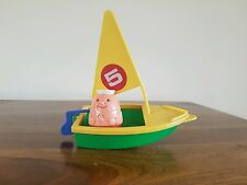 VINTAGE 1970'S AIRFIX SAILING BOAT AND SAILOR WEEBLE