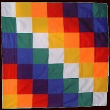 WIPHALA FLAG - Native Peoples - Symbol of the Andean Nation 1 Meter x 1 Meter