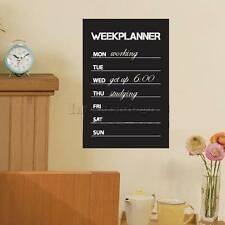 Week Planner Chalkboard Wall Sticker Removable Decal Home Decor Accessories