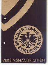Tennis Borussia Berlin - Vereinsnachrichten - August / September 1954