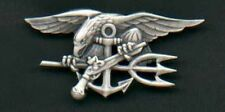 Genuine US Navy SEAL Badge in silver Trident US Made