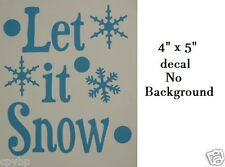Cute Let it Snow Christmas Decal Sticker for Glass Block DIY Crafts