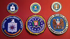 FBI, CIA & NSA AMERICAN SECURITY SERVICE 85mm EMBROIDERED PATCHES +   STICKERS