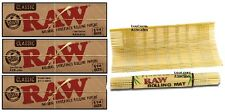 "3 PKS RAW Classic Unbleached 1.25 Papers + ""New Style"" RAW BAMBOO ROLLING MAT"