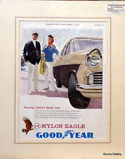 Original Vintage Advertisement mounted ready to frame Goodyear Car Tyres 1959