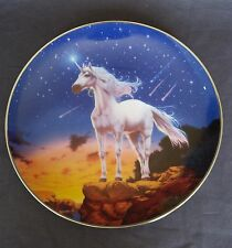 Franklin Mint Collector Plates Final Stance Of The Diamond Unicorn