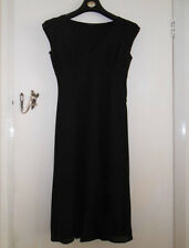 Long Jet Black See Through Short Sleeve Linea Dress in Size 10