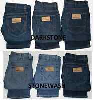 MENS CUT LABEL ICONIC WRANGLER JEANS ADDED STRETCH REGULAR FIT ZIP FLY 6 COLOURS