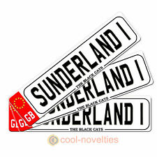 "MINI NOVELTY NUMBER PLATE / BOOKMARK  "" SUNDERLAND 1 "" GIFT FOR FOOTBALL FANS"