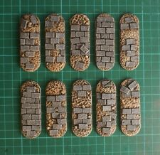 70mm resin Bike bases X5 wargames Sci-fi scenery Paved by daemonscape