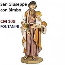 Statua religiosa FONTANINI san giuseppe con bambino cm 100 in resina arte sacra