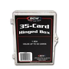 1 Case of 100 - BCW 35 Card Storage Plastic Case Hinged Snap Box - hb35