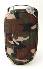 Universal Cell Phone Flip  Case fits most Prepaid Phones -Canvas Camouflage New